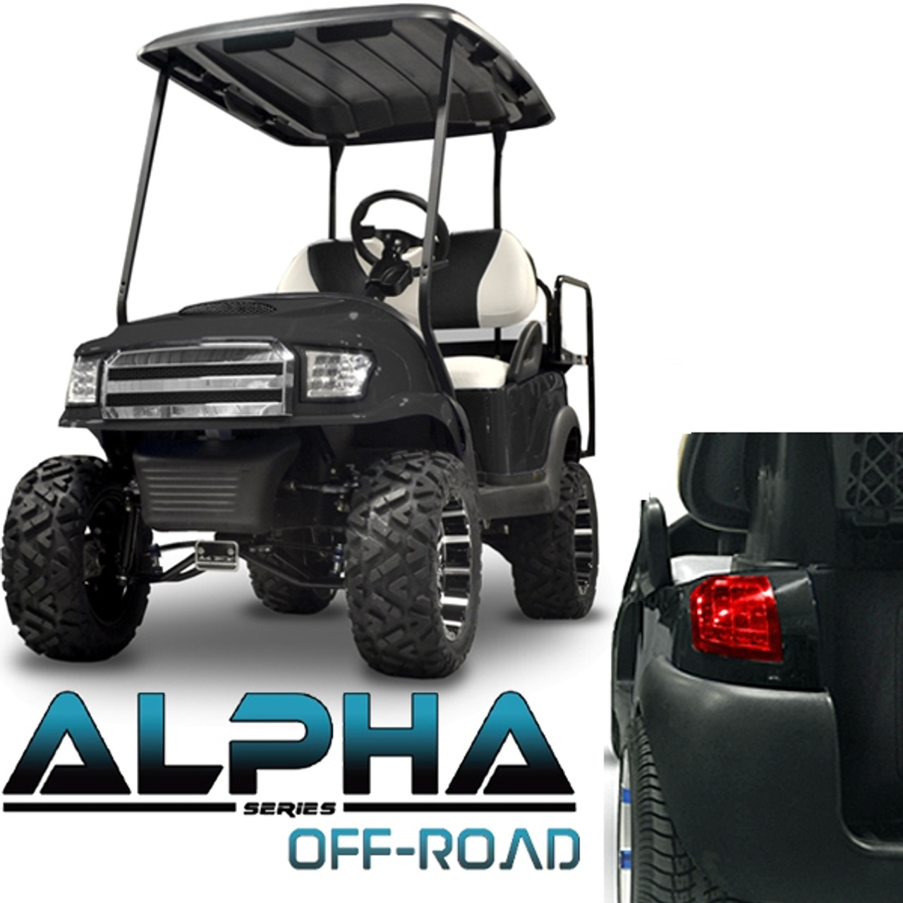 Club Car Precedent ALPHA Off-Road Body Kit in Black (Fits 2004-Up)