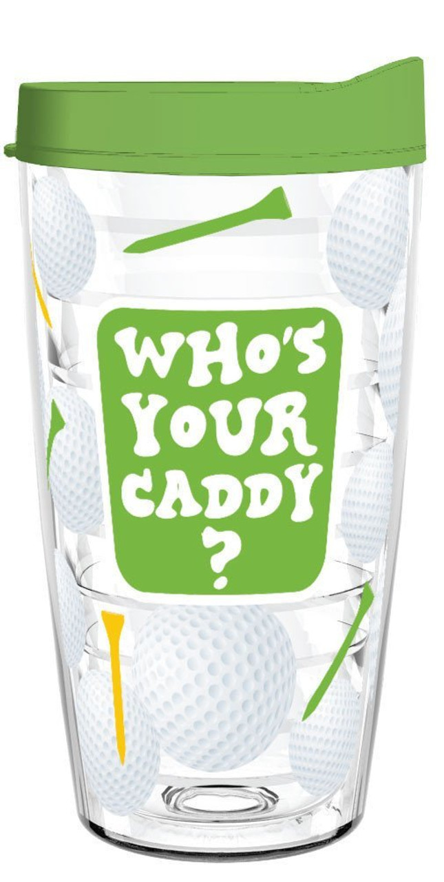 """16oz Tumbler """"Be The Ball"""" - Perfect Golf Gift for Avid & Casual Golfers"""