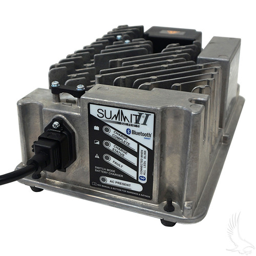 Battery Charger, Lester Summit Series II, 36-48V Auto Ranging Voltage 13-27A , EZGO Powerwise