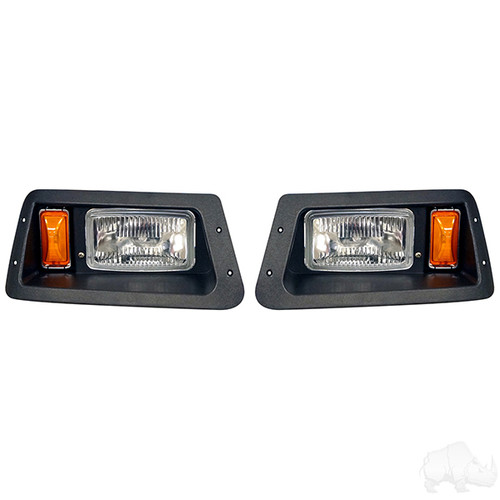 Adjustable Headlights with Bezels, Yamaha G14-G22