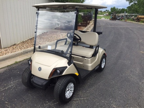 Yamaha Drive 2017 to Current Clear Fold Down Impact Resistant Windshield for Yamaha Drive 2 Golf Cart