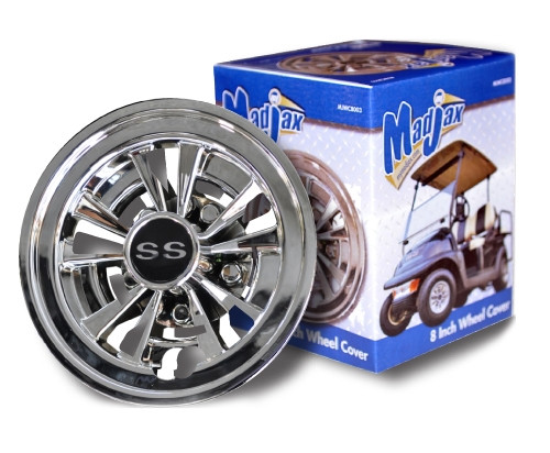 Hub Caps, SS Wheel Covers, 8 Spoke, Madjax MJWC8003