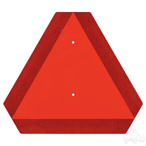Slow Moving Vehicle Emblem, Orange Reflective Triangle