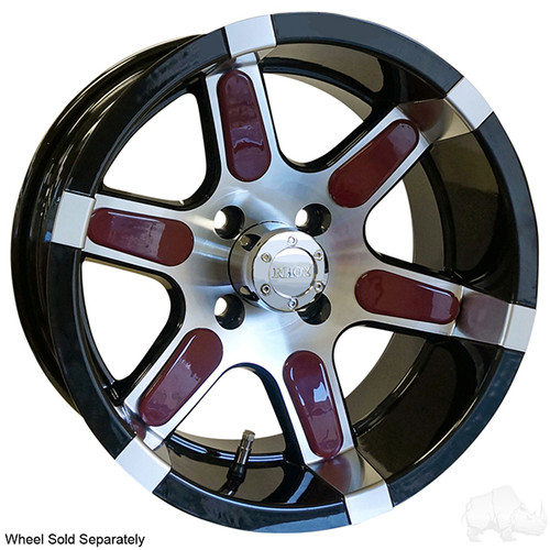 Color Wheel Inserts for Golf Carts, BAG OF 6, Burgundy
