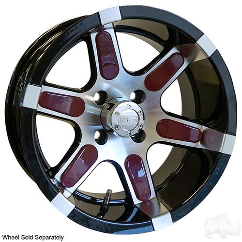 Color Wheel Inserts for Golf Carts, BAG OF 6, Burgundy