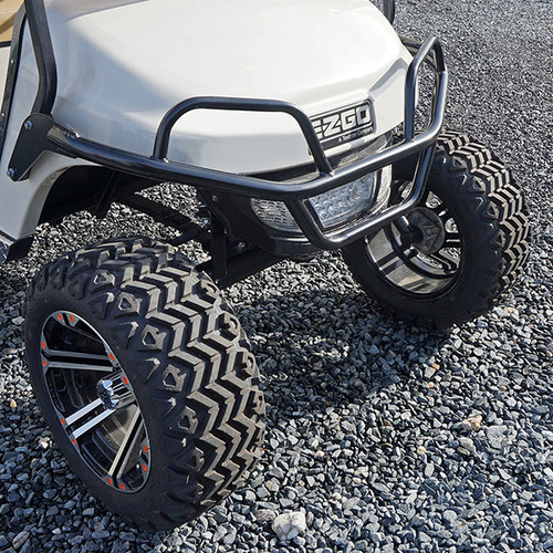 Brush Guard, Front Black Powder Coat Steel, EZGO TXT 2014 to Current (T48) Golf Carts