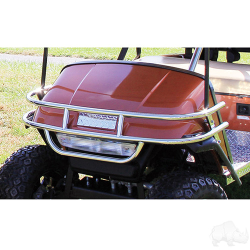 Brush Guard, Front Stainless Steel, EZGO TXT Medalist 1996 to 2013 Golf Carts