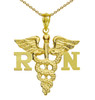 Registered Nurse Necklace RN Charm