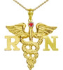 RN Necklace Register Nurse's Graduation Gifts Jewelry in Sterling Silver or 14K Gold. For nursing school pinning ceremony award recognition.