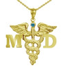 Medical Doctor MD Charm Necklace