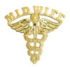 Midwife pins for college graduation pinning ceremony gifts and student award recognition.  Jewelry manufactured 14K gold or silver midwife pins.