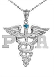 PA necklace physician assistant pinning ceremony graduation jewelry and gifts.  Class discounts, gift boxes and fast shipping are all included.