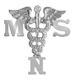Nursing pins MSN graduation pinning ceremony.  This nursing pin is the ultimate gift of jewelry Masters of Science in Nursing graduate