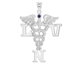 LVN Licensed Vocational Nurse Graduation Pin, Charm and Necklace