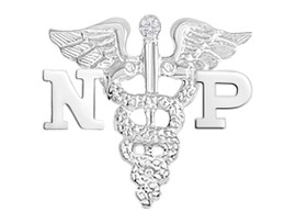 NP Nurse Practitioner Nursing Pins, Charm & Necklace