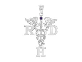 RDH Registered Dental Hygienist Graduation Pins, Charm and Necklace
