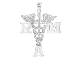 RMA Registered Medical Assistant Graduation Pins, Charms and Necklace