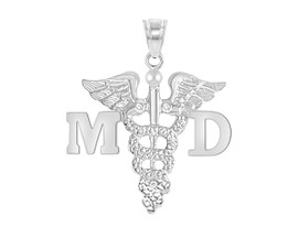 MD Medical Doctor Graduation Pins, Charm and Necklace