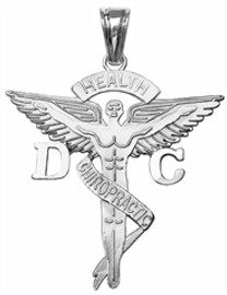 Doctor of chiropractic medicine DC charm graduation pinning ceremony gifts.  Chiropractor DC jewelry in 14K and silver for class discounts.