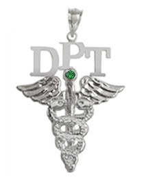 DPT charm doctor of physical therapy pinning ceremony graduation gifts and jewelry.  DPT pendant made in sterling silver or 14K and shipped fast