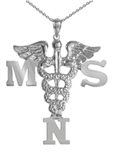 MSN Masters of Science in Nursing Necklace | Graduation Gifts