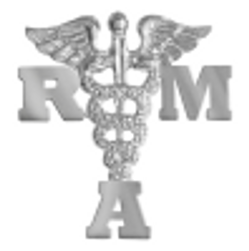 Registered medical assistant RMA pins for graduation pinning ceremony.  These fine jewelry RMA graduation pins are wonderful gifts and awards.
