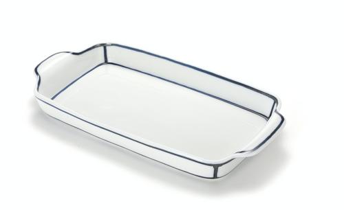 Handmade  Ceramic Rectangle Serving Plate by Artist Kim Seok Binn for The Moon Jar