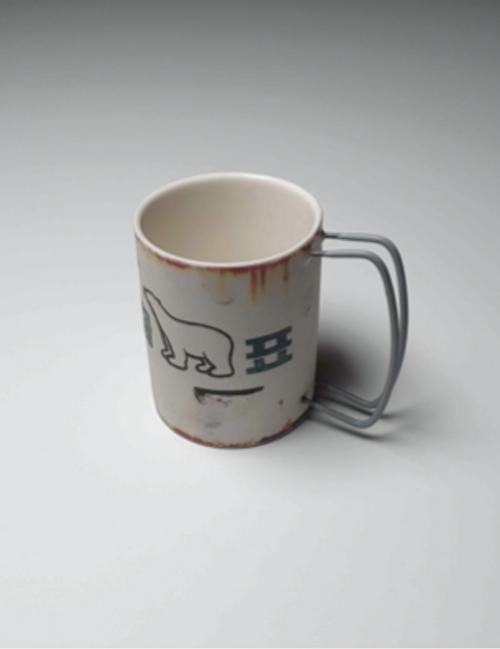 Retro White Bear Mug, Handmade by Artist Hyun Sang Hwa
