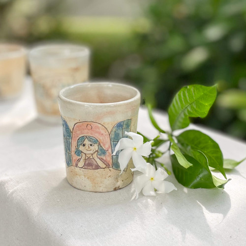 YAGO Cup by Japanese Ceramist Naohiko Yago.  All handmade and hand painted. The Moon Jar Singapore