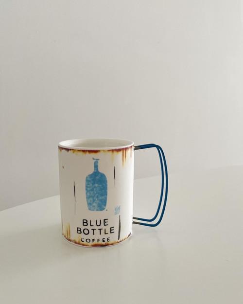 Blue Bottle Retro Mug By artist Hyun sang Wha made in Korea