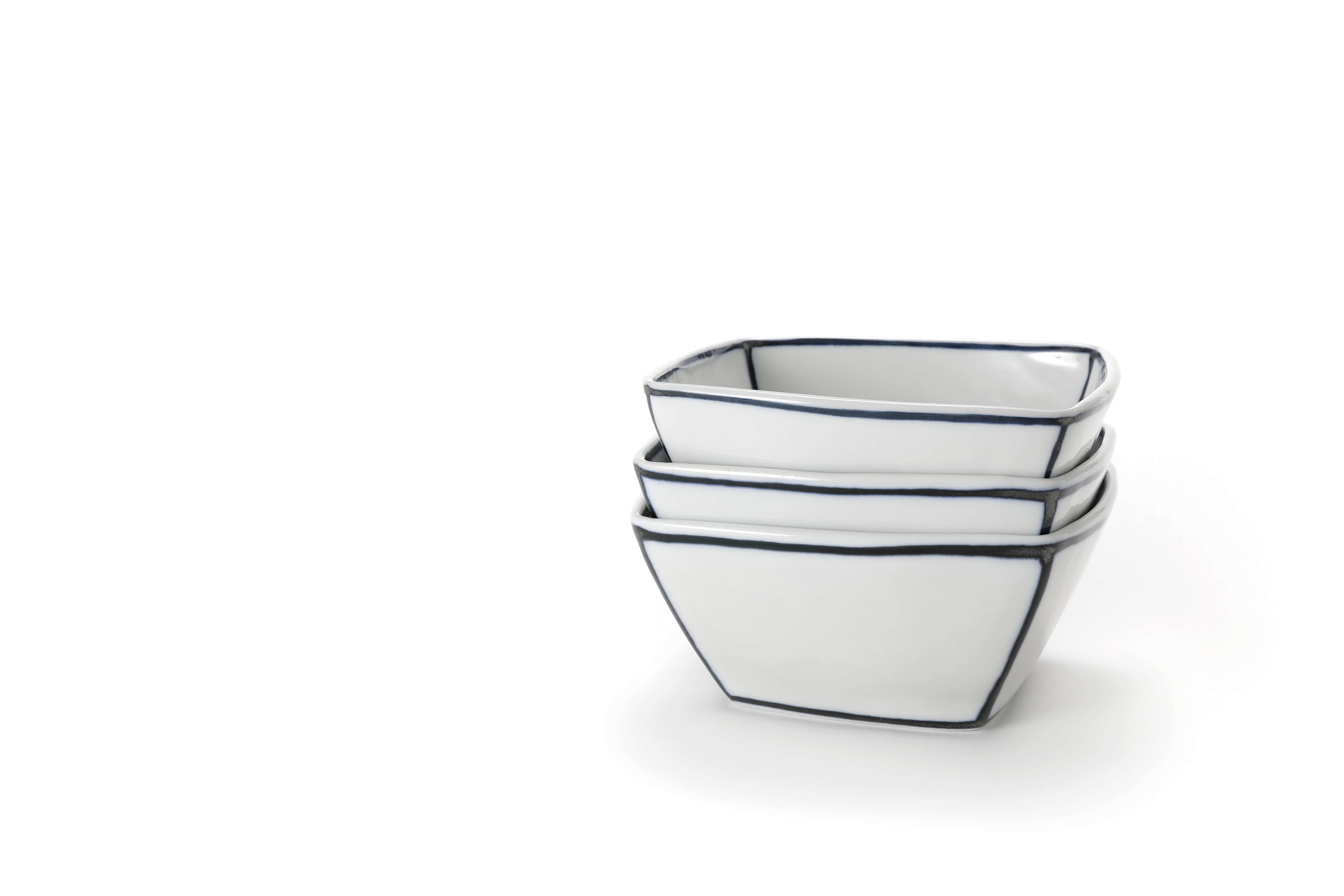 handmade Ceramic Salad Bowl, stackable