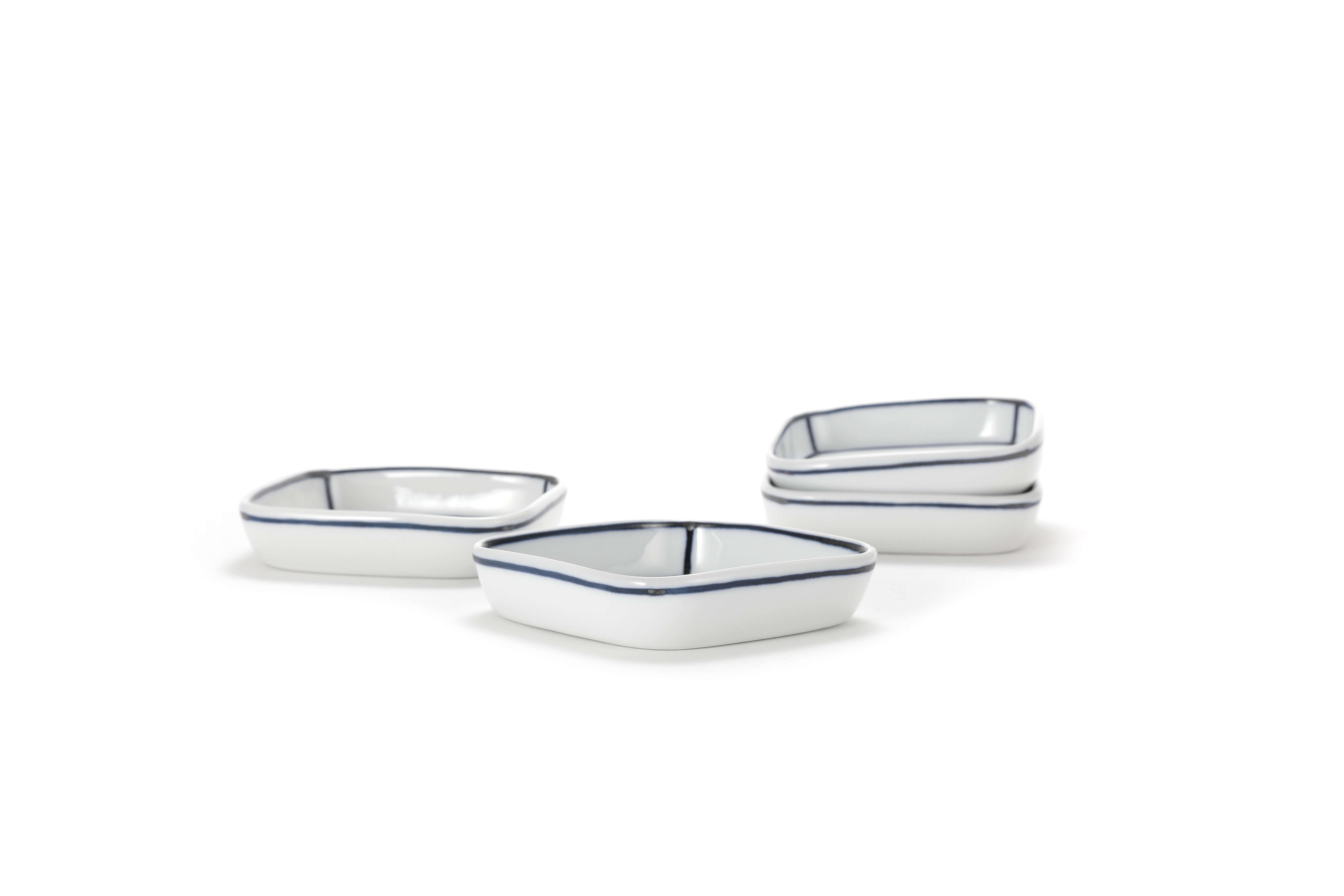 Diningware handmade ceramics white square dish