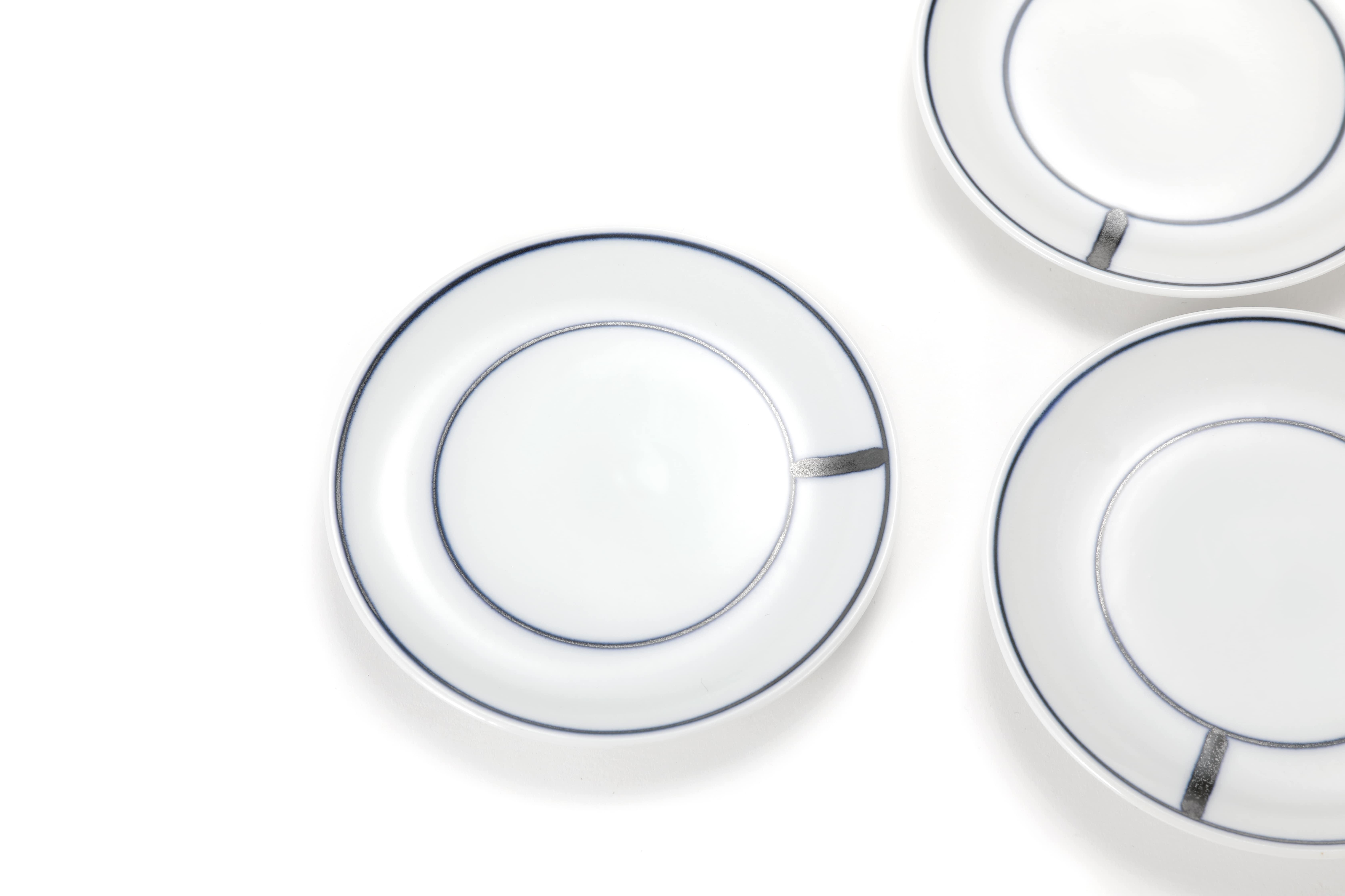 Handmade Korean Ceramics Bluelines Saucer for cups and mugs