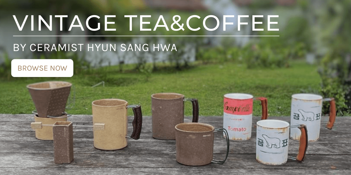 Vintage Tea & Coffee mugs by Hyun Sang Hwa