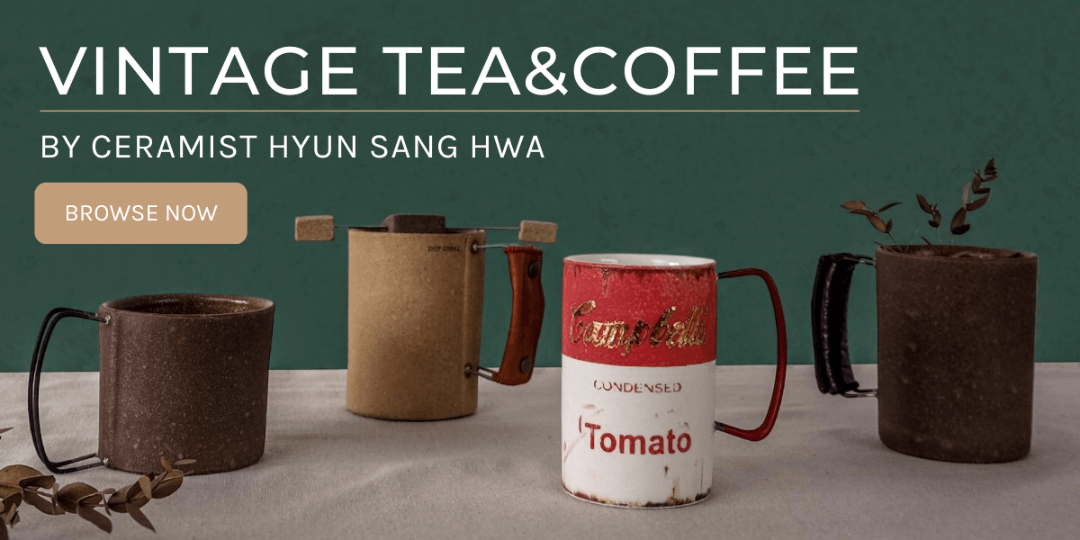 Vintage Tea & Coffee mugs by Hyun Sang Hwa