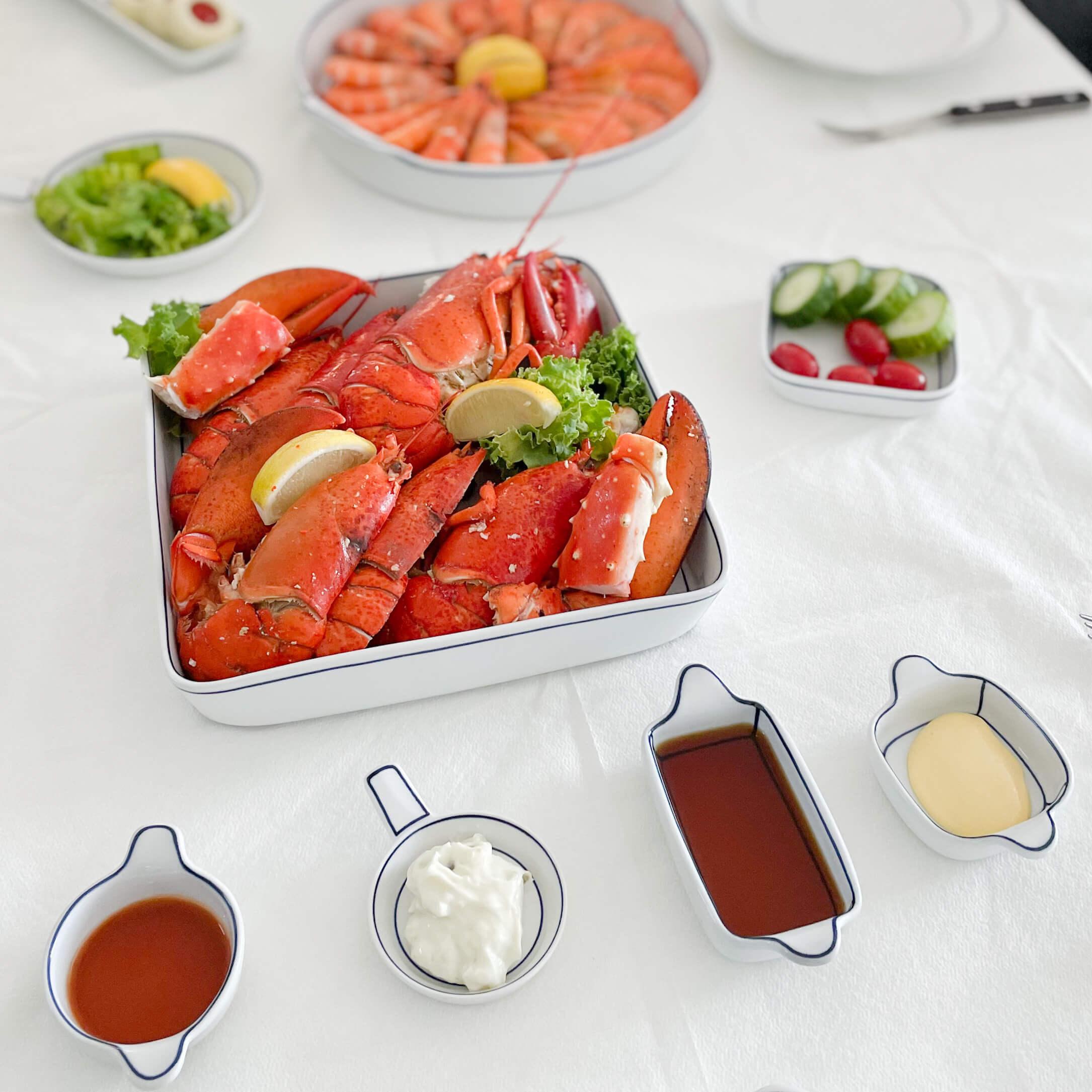 Blueline Kim seok Binn square plate
