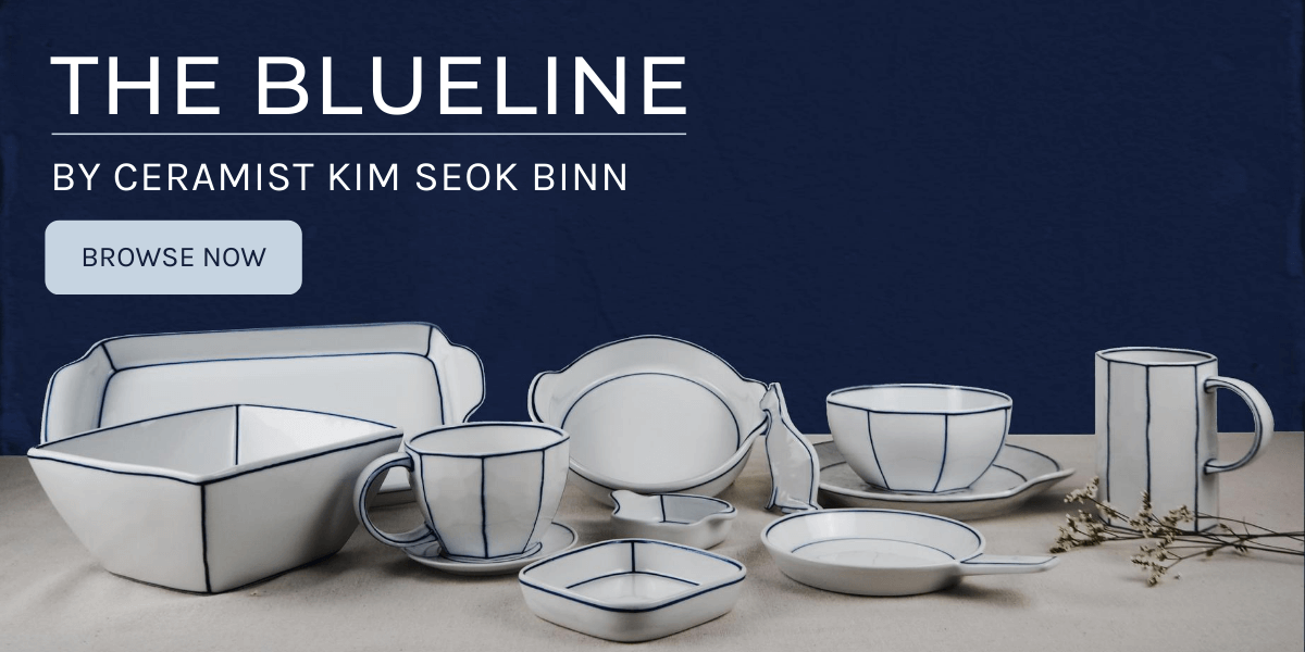 The blueline by Ceramist Kim Seok Binn