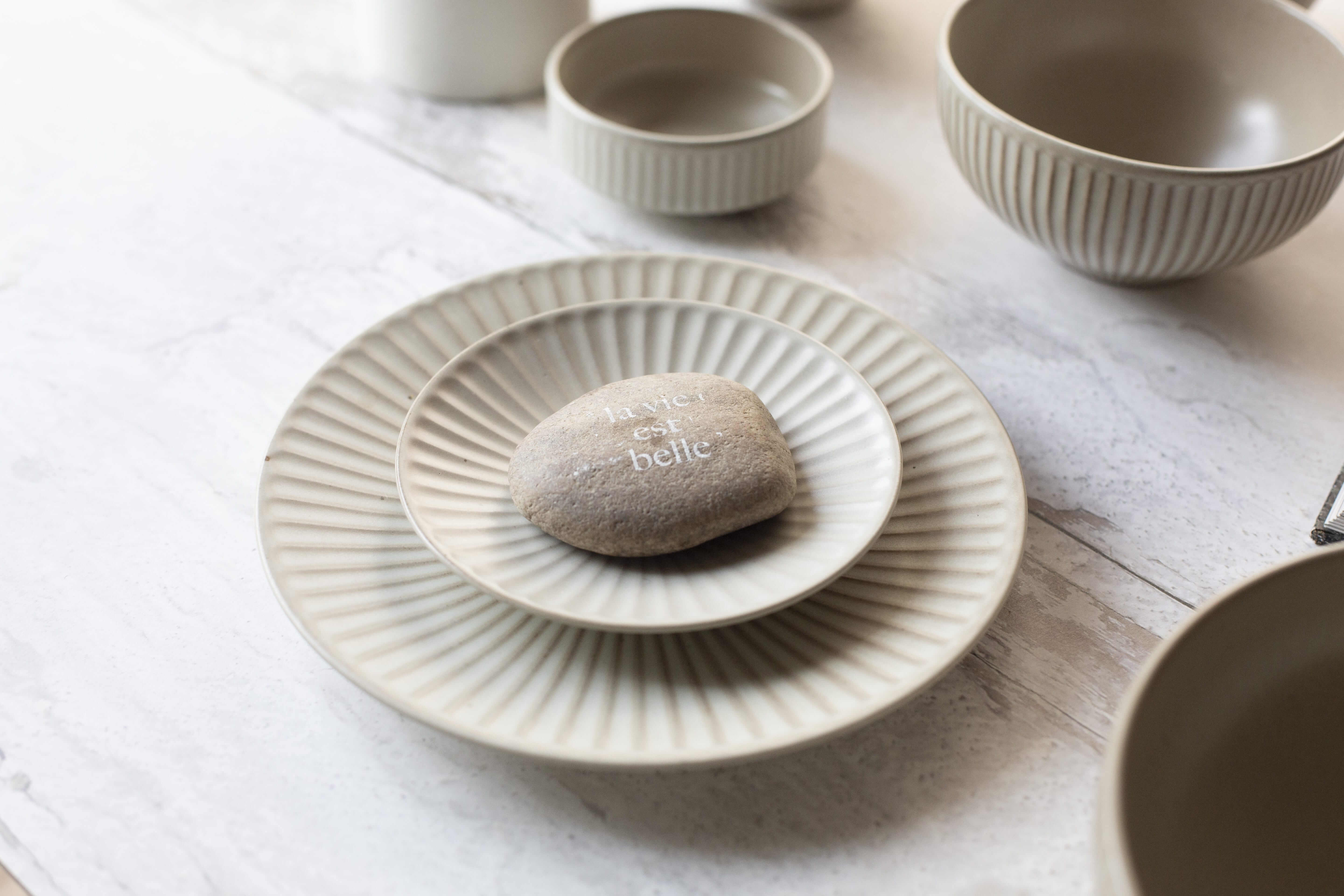 Handmade Korean Ceramics Oatmeal Colour Onseo Plate in different Sizes