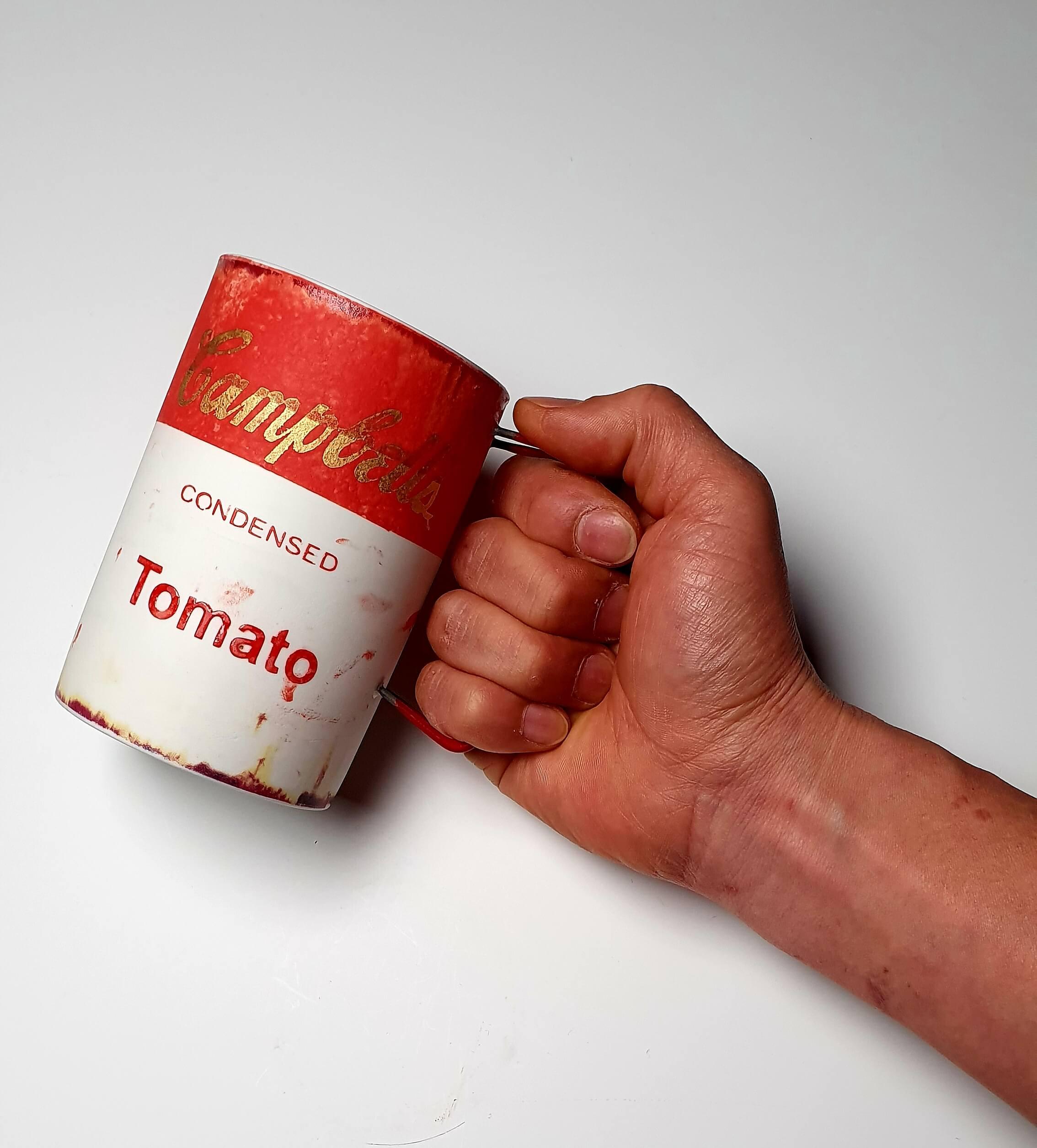 Campbell Soup mug handmade ceramic