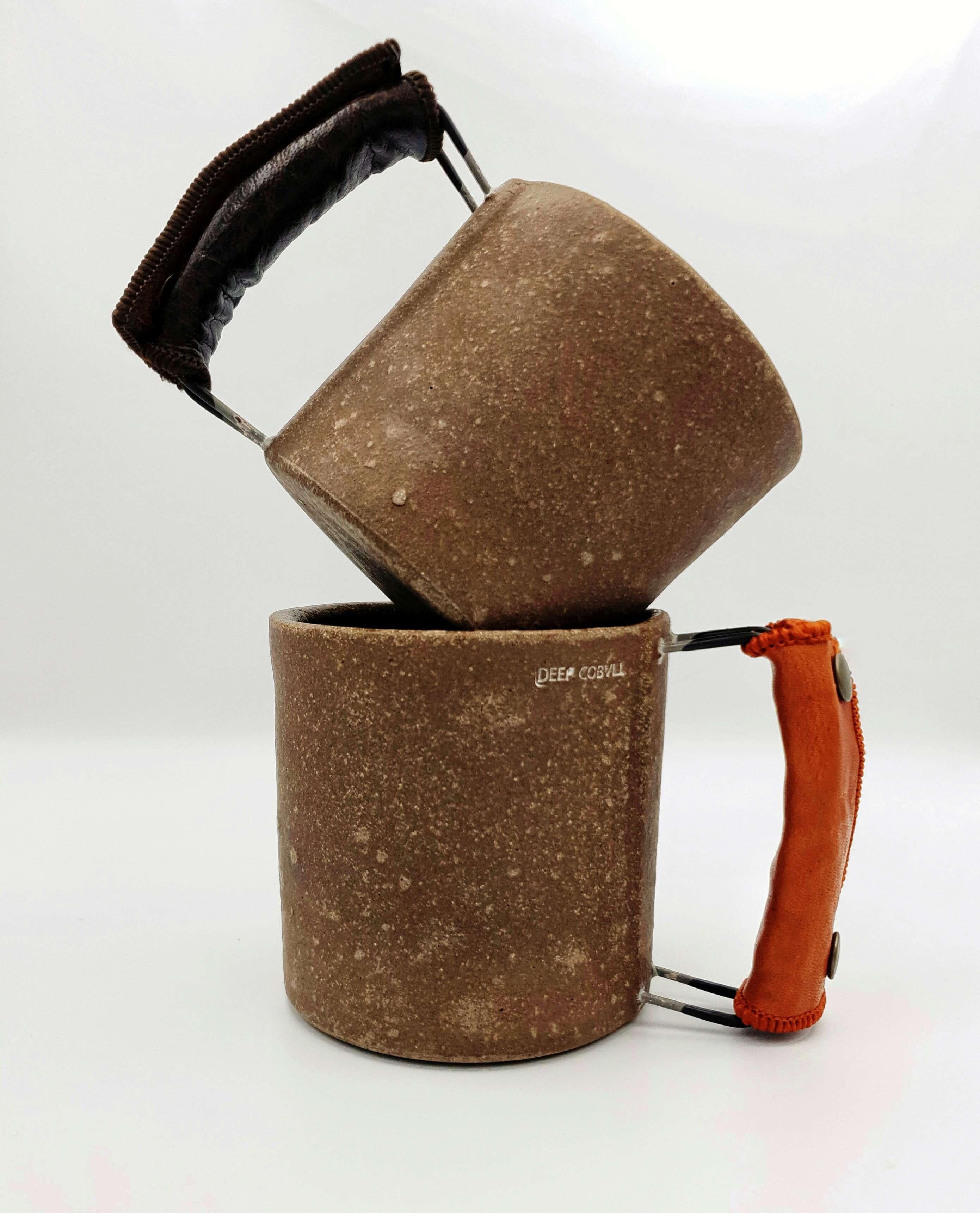 Vintage Ceramic Latte mug by Artist Hyun Sang Hwa