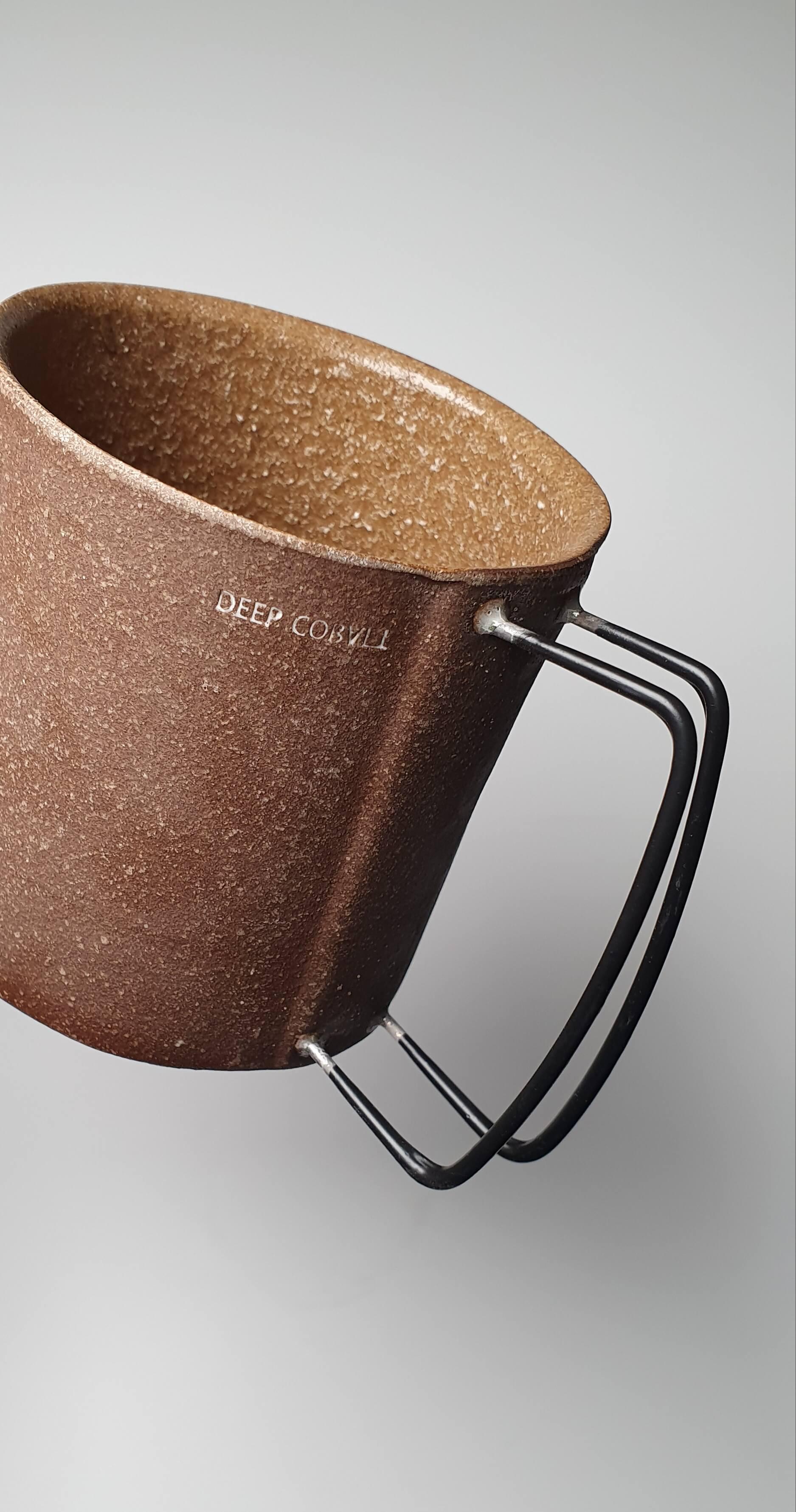 Vintage Coffee Mugs in Dark Brown colour