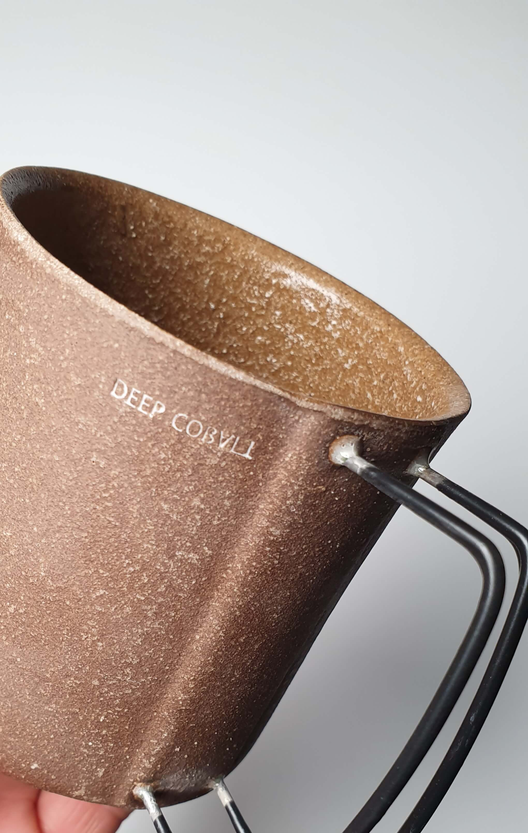Vintage Latte Mug in dark brown colour