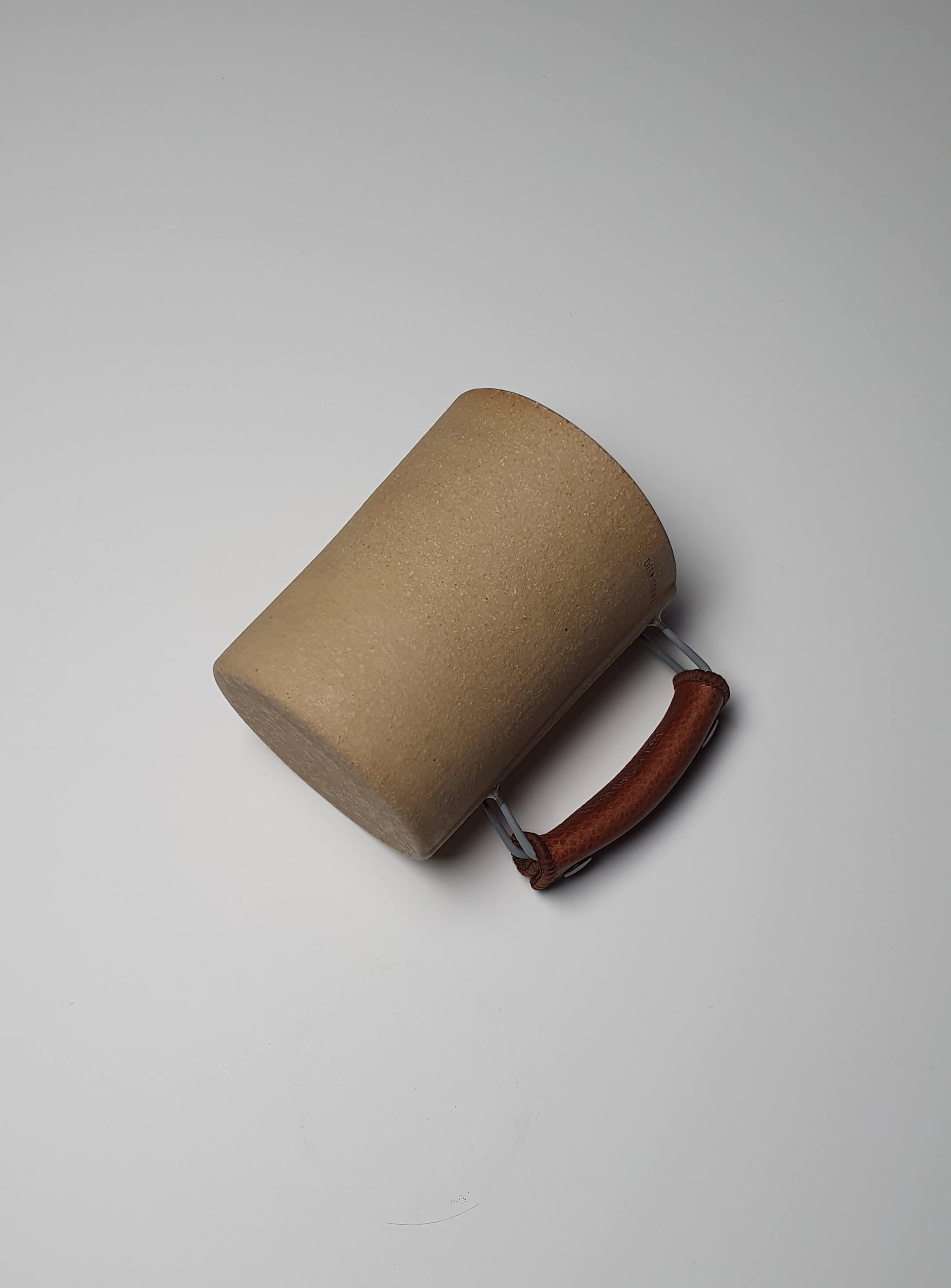Vintage Handmade Mug in Light Brown