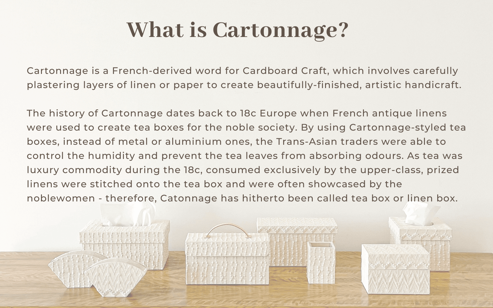 what is cartonnage?