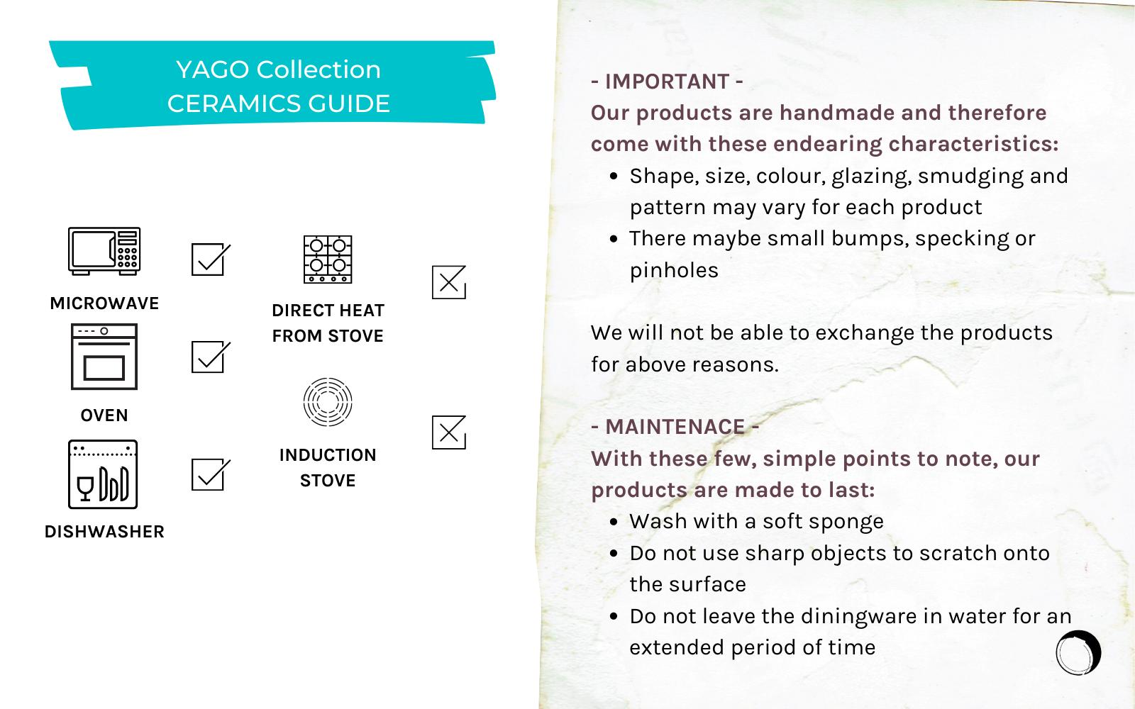 YAGO Ceramics Product Guide
