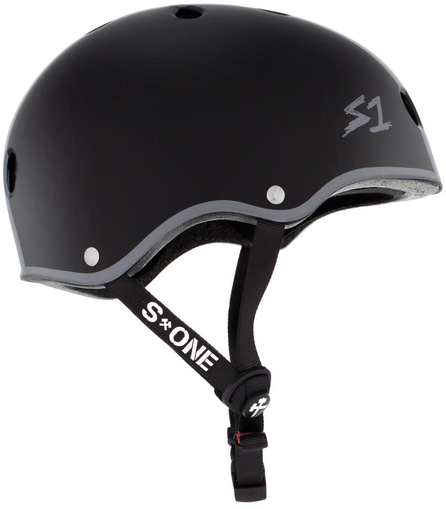 Black Matte Eddie Elguera Skate Helmet S1 Lifer side view.