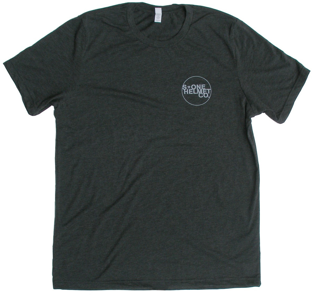 S1 Helmet Co. - Small Seal Logo T-Shirt - Charcoal Black Triblend