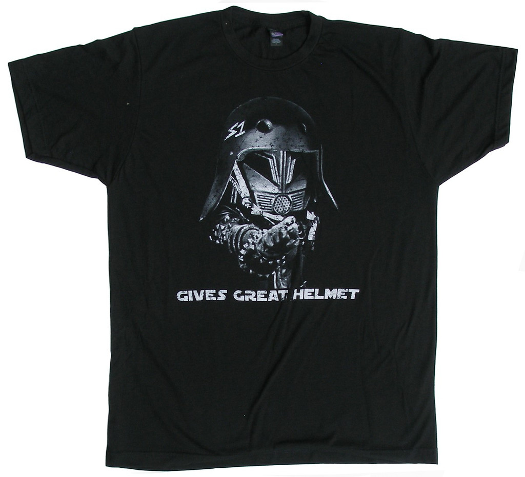 S1 Helmet Co. - Gives Great Helmet - T-Shirt - Black