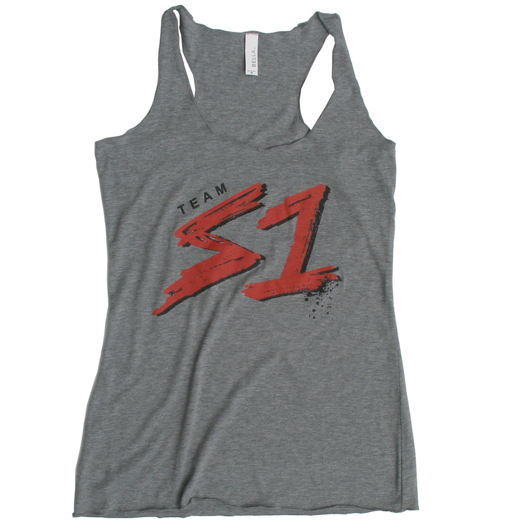 S1 Helmet Co. - Team S1 Racer Back Tank - Heather Grey Triblend