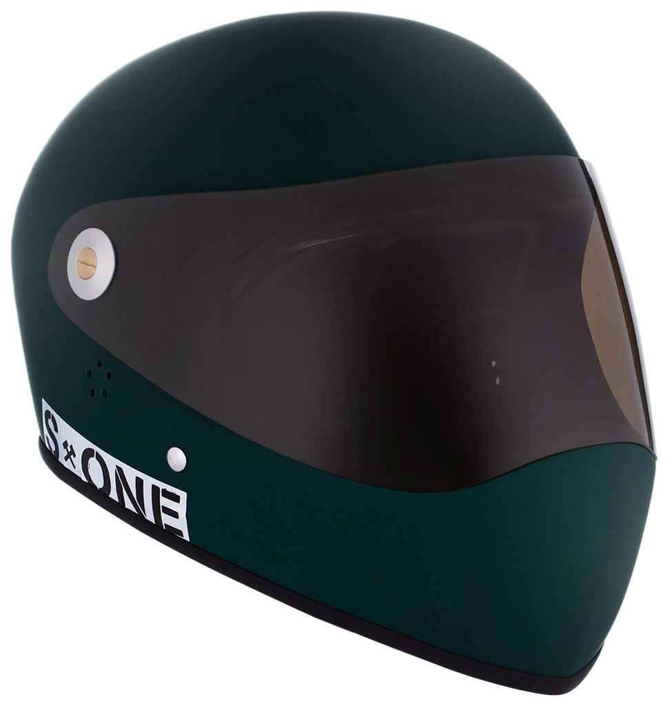 Dark Green Matte W/ Tint Visor | S1 Lifer Full Face Helmet Specs: • Specially formulated EPS Fusion Foam • Certified Multi-Impact (ASTM) • Certified High Impact (CPSC) • 5x More Protective Than Regular Skate Helmets • Deep Fit Design